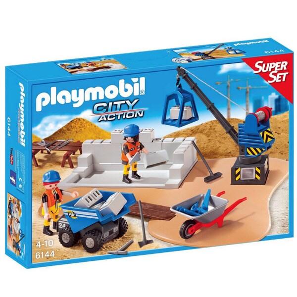 Playmobil City Action Construction Site Super Set 6144 Playset