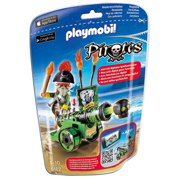 Playmobil Green Interactive Cannon with Pirate Captain Playset
