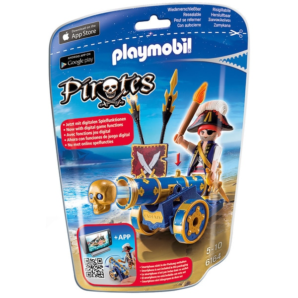 Playmobil Interactive Cannon With Pirate Playset