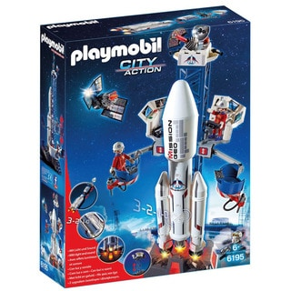 Playmobil 6195 Space Rocket with Launch Site for Kids 6 and Up