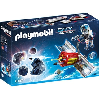 Playmobil 6197 Kids 6+ City Action Satellite Meteoroid Laser with Astronaut