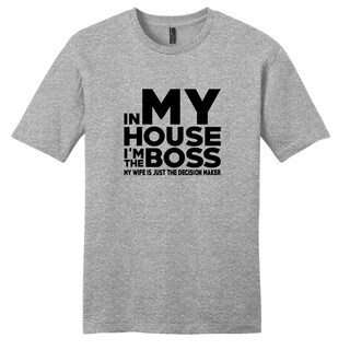 Sweetums Unisex I'm the Boss Grey Cotton T-shirt (More options available)