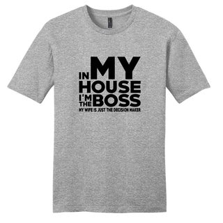 Sweetums Unisex I'm the Boss Grey Cotton T-shirt