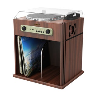 Studebaker Stereo Turntable with Bluetooth Receiver and Record Storage Compartment