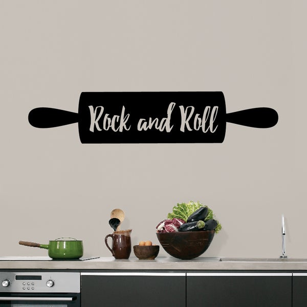 Rock and Roll Rolling Pin' 48 x 10-inch Kitchen Wall Decal