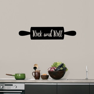 Rock and Roll Rolling Pin' 36 x 8-inch Kitchen Wall Decal