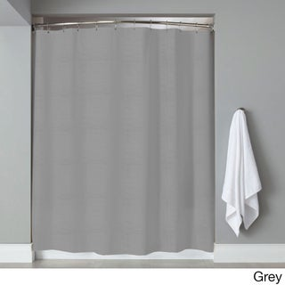 Hotel Quality Embossed Stripe Fabric Shower Curtain/Liner (70 x 72) Assorted Colors