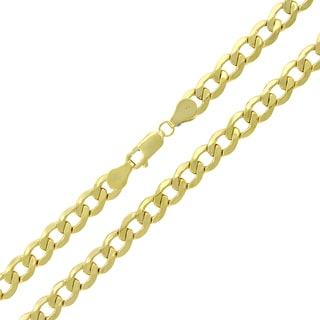 10k Gold 6-millimeter Hollow Cuban Curb Link Chain Necklace