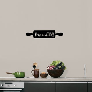 Rock and Roll Rolling Pin' 24 x 5-inch Kitchen Wall Decal