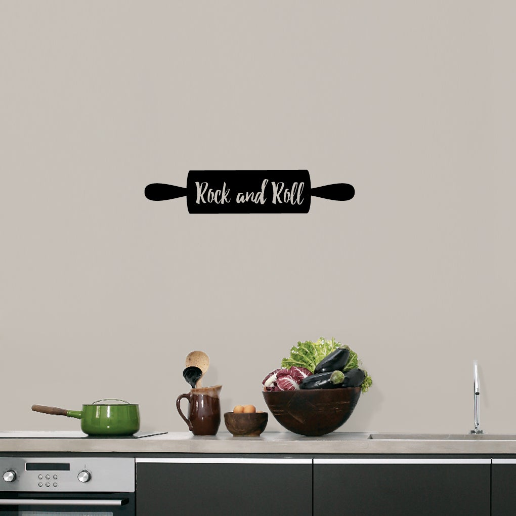 Rock And Roll Rolling Pin 24 X 5 Inch Kitchen Wall Decal Overstock 12089190