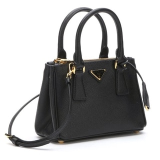 Prada Galleria Saffiano Leather Black Mini Bag