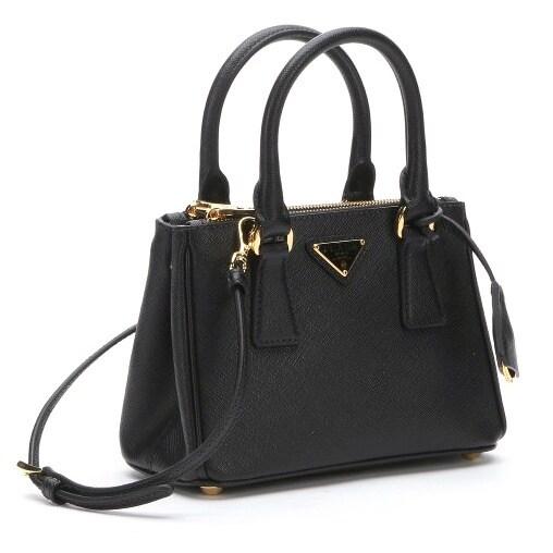 6df5dd96d17b ... ebay prada galleria saffiano leather black mini bag c2ab3 19133