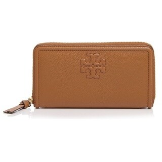 Tory Burch Thea Multi-Gusset Zip Continental Wallet - Bark