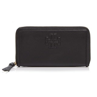 Tory Burch Thea Multi-Gusset Zip Continental Wallet - Black
