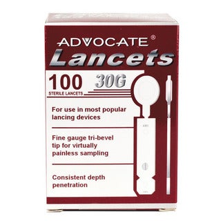 Advocate 30G Thin Lancets (Case of 100)