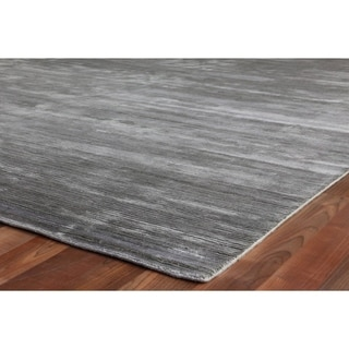 Exquisite Rugs Dark Grey Viscose Swell Rug (6' x 9')