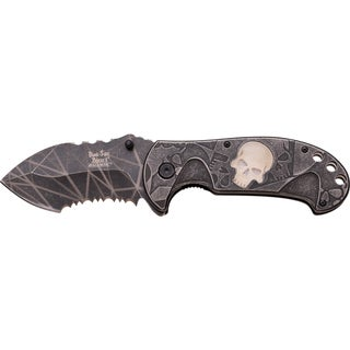 Dark Side Assisted-opening Glowing Skull Knife