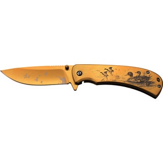 Duck Hunting Print Titanium-coated Stainless Steel Folding Knife