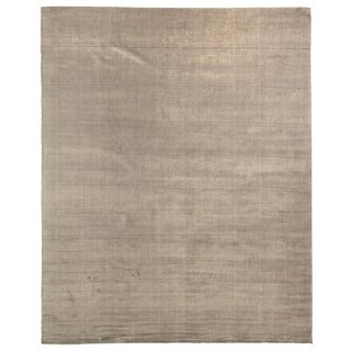 Exquisite Rugs Herringbone Dark Grey Viscose Rug (6' x 9')
