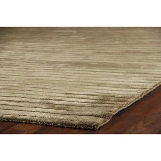Exquisite Rugs Dark Beige Viscose High Low Rug (6' x 9')