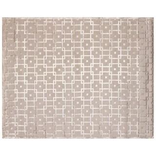 Exquisite Rugs Metro Velvet Beige New Zealand Wool and Viscose Rug - 6' x 9'