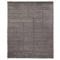 Exquisite Rugs Metro Velvet Dark Grey New Zealand Wool and Viscose Rug - 6' x 9'