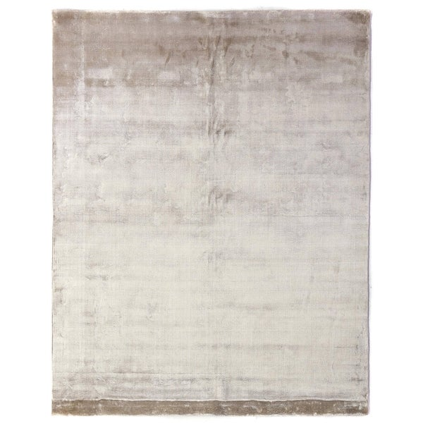 Shop Exquisite Rugs Silky Touch Beige Viscose Rug 6 X 9