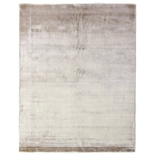 Exquisite Rugs Silky Touch Beige Viscose Rug (6' x 9')