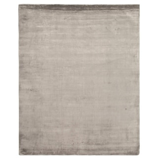 Exquisite Rugs Silky Touch Silver Viscose Rug (6' x 9')