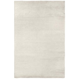 Exquisite Rugs White Viscose Swell Rug (6' x 9')