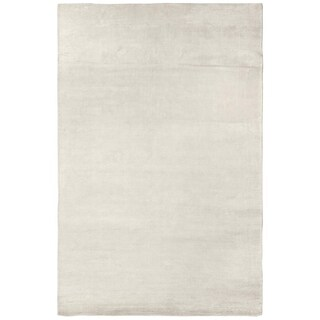 Exquisite Rugs Swell White Viscose Rug (6' x 9') - 6' x 9'
