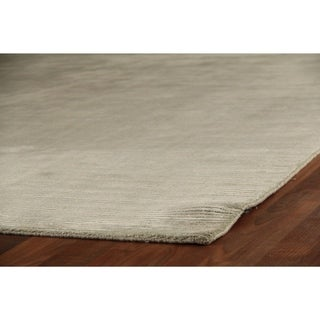 Exquisite Rugs Swell Light Blue Viscose Rug (6' x 9')