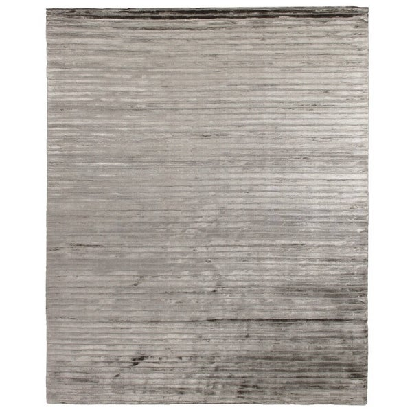 Exquisite Rugs High Low Dark Gray Viscose Rug - 4' x 6'