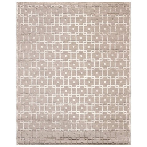 Exquisite Rugs Metro Beige New Zealand Wool and Viscose Rug - 4' x 6'