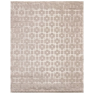 Exquisite Rugs Metro Beige New Zealand Wool and Viscose Rug (4' x 6')