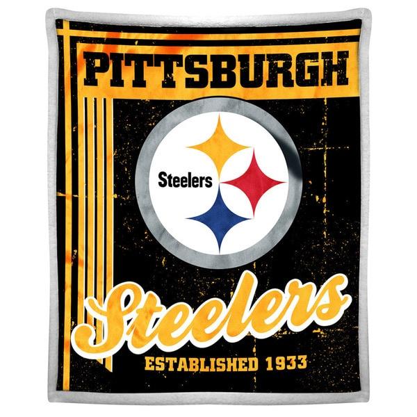 NFL 192 Steelers Mink Sherpa Throw