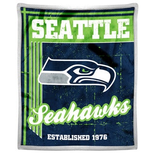 NFL 192 Seahawks Mink Sherpa Throw