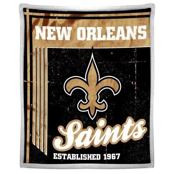 NFL 192 Saints Mink Sherpa Throw