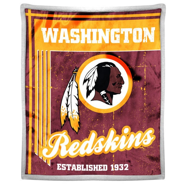 NFL 192 Redskins Mink Sherpa Throw