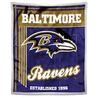 NFL 192 Ravens Mink Sherpa Throw