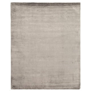 Exquisite Rugs Silky Touch Silver Viscose Rug (4' x 6')