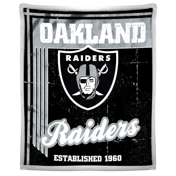 NFL 192 Raiders Mink Sherpa Throw