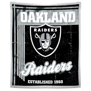 NFL 192 Raiders Mink Sherpa Throw