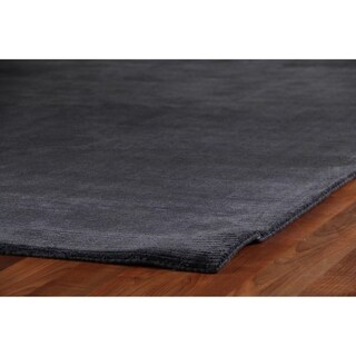 Exquisite Rugs Swell Navy Viscose Rug - 4' x 6'