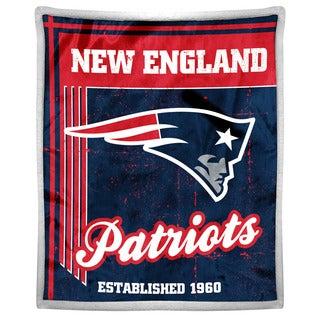 NFL 192 Patriots Mink Sherpa Throw