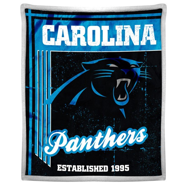 NFL 192 Panthers Mink Sherpa Throw