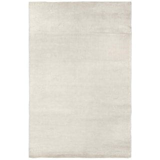Exquisite Rugs Swell White Viscose Rug (4' x 6')
