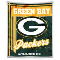 NFL 192 Packers Mink Sherpa Throw