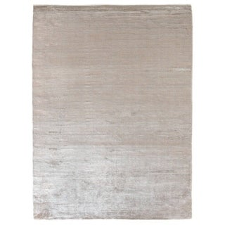 Exquisite Rugs Swell Silver Viscose Rug (4' x 6')