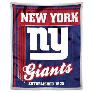 NFL 192 NY Giants Mink Sherpa Throw